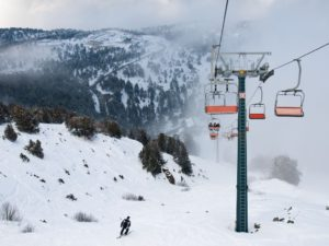Горные лыжи зимой