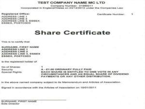 Сертификат о составе участников