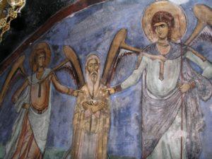 Фреска вознесение Неофита на суд Божий после кончины
