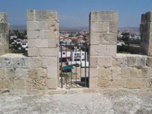 Бойницы на крыше замка