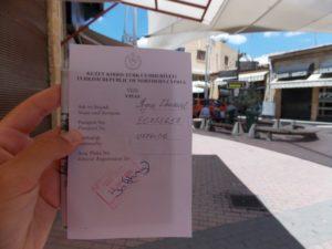 Виза Северного Кипра